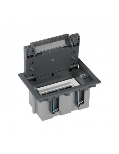 Caja de suelo S500, 1 módulo. Profundidad regulable 90-120 mm, gris