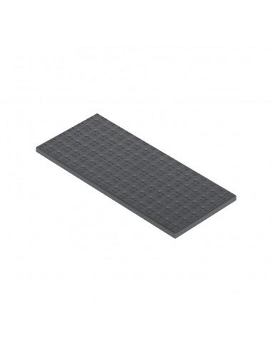 Tapa de enrasamiento S500, 1 módulo, gris