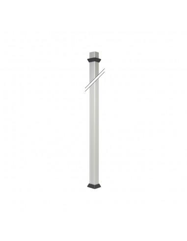 Columna Simon 500 Cima 2 caras.longitud del perfil 3m, longitud del soporte de fijación 1.5m, aluminio