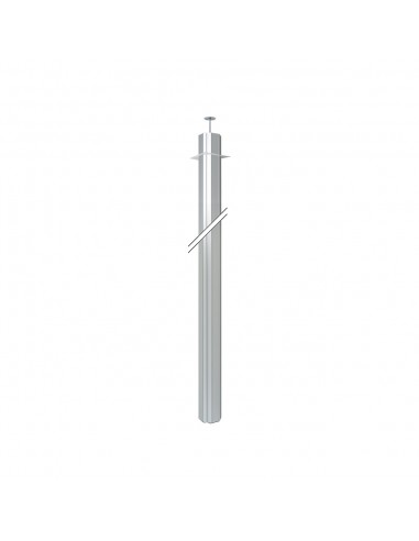 Columna K45 cuatro caras, 125x130mm, altura 3 metros, aluminio