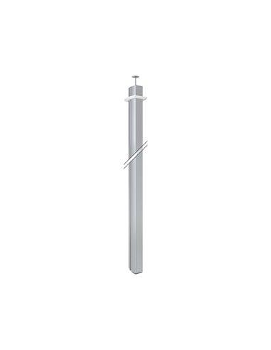 Columna K45 dos caras ovalada, 110x80mm altura 3 metros, aluminio. Sin limitación de bases eléctricas.