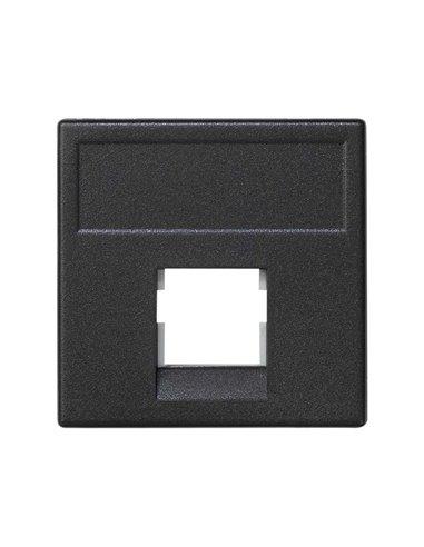 Placa K45 para 1 toma K5 ó K6 de 3M®, grafito