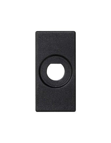 Placa 45x22.5 para 1 conector BNC, grafito