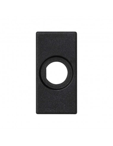 Placa 45x22.5 para 1 conector S-video, grafito