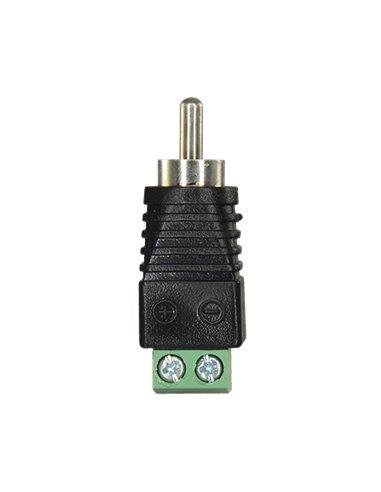 Conector RCA macho con borna de conexión