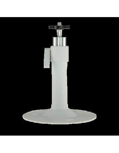 Soporte para camara metálico. 145 mm (al) x 120 mm (diámetro base) Permite paso interno cableado