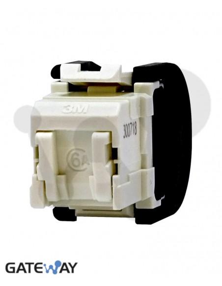 Toma RJ45 Cat 6a, UTP 3M®, 3 entradas de cable