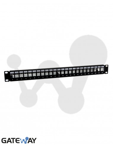 Panel RJ45 para 24 tomas tipo Keyston