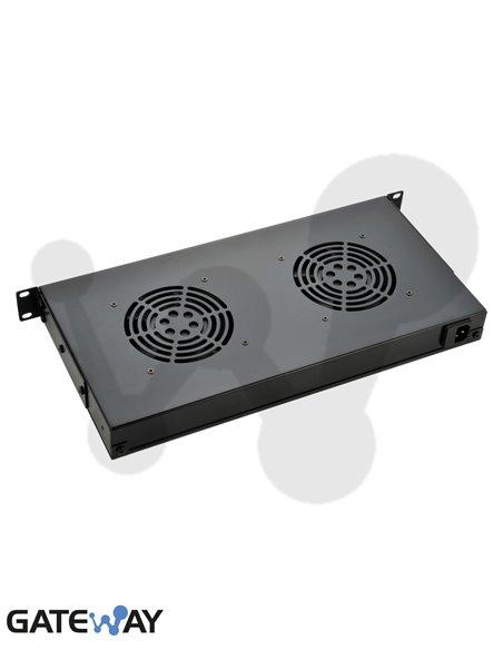 Unidad de ventilación 1U 2 ventiladores