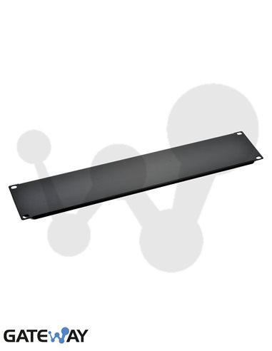 Panel ciego 1U negro