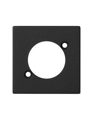 Placa K45 para 1 conector tipo Neutrik serie D, grafito
