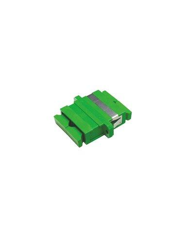 Acoplador SC/APC monomodo duplex (verde)