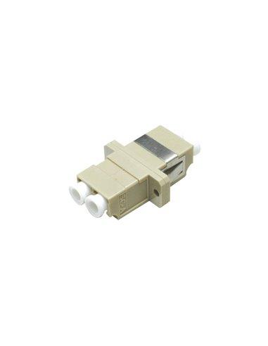 Acoplador LC multimodo duplex (beige)