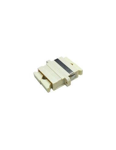 Acoplador SC multimodo duplex (beige)