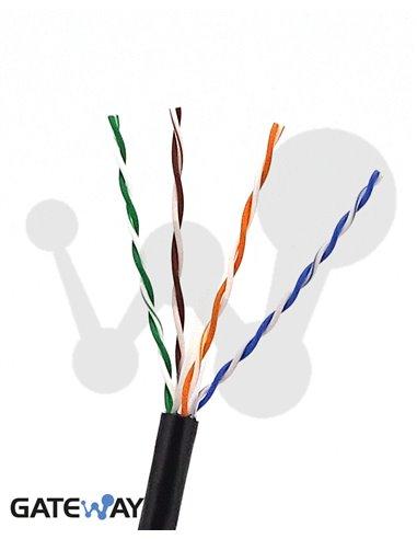 Cable UTP Cat.6 para exterior con cubierta de polietileno (múltiplos de 25 m)
