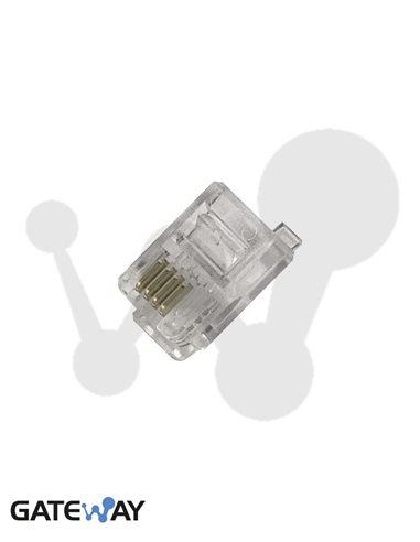 Conector modular 4 vías RJ9 (pequeño)