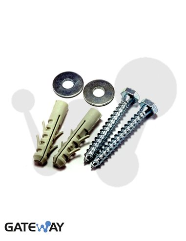 Tornillos 8x60 y taco 10 mm (2 uds)