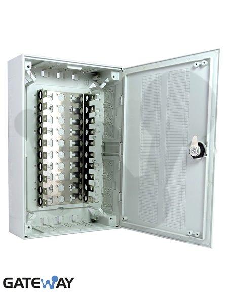 Caja de distribucion interior 100 pares con soporte para regletas