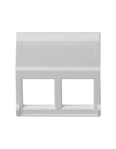 Placa 45x45 inclinada sin ventana para 2 módulos MD, blanco