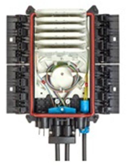 Caja de empalme de fibra IP68 (EOC), BPE/O-1, 144 fusiones, 4 puertos simples S5-18