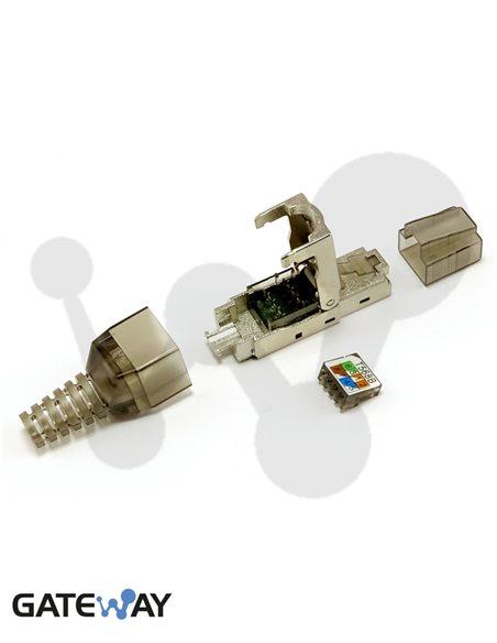 Conector modular industrial RJ45 Cat6 blindado