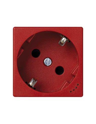 Schuko K45 con piloto indicador, rojo