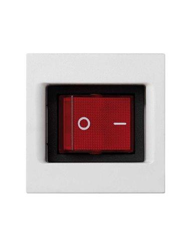 Placa K45 con interruptor luminoso Bipolar de 16A