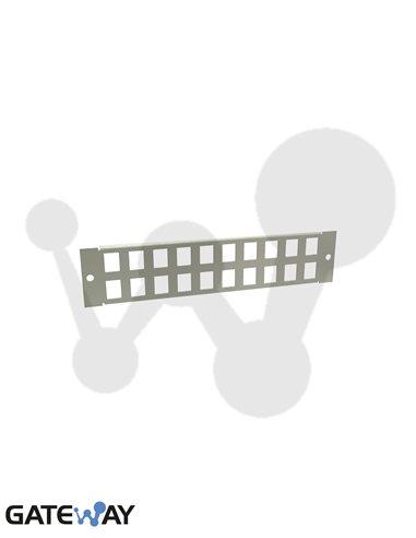Panel MiniNet Retex para 20 RJ45 tipo Keystone