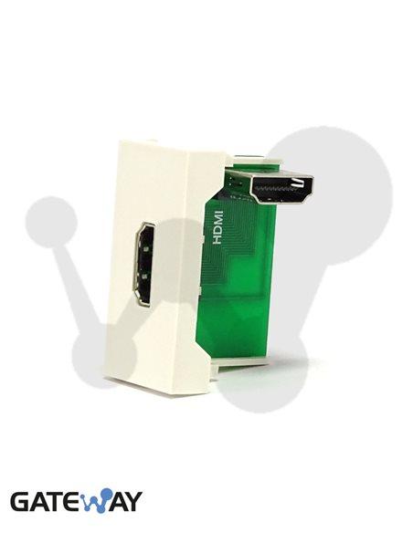 Modulo de 45x22,5 con conector HDMI Hembra - Hembra, blanco