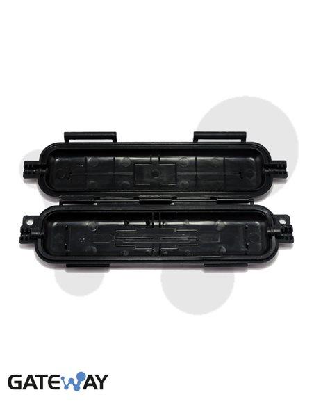 Caja protectora de conexión de fibra óptica para cables hasta 5 mm. 170x38x19 mm. Uso inerior y exterior