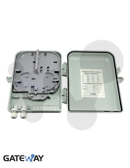 Caja de empalme y reparto IP-65 para 16 acopladores SC o LC