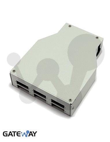Roseta 6 SC duplex para carril DIN (125x36x129mm)