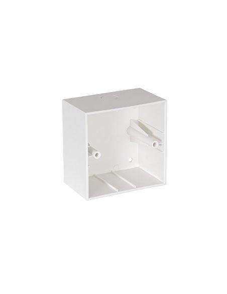 Caja ABS estándar universal cuadrada de instalación en superficie para atenuadores de la serie DOT.