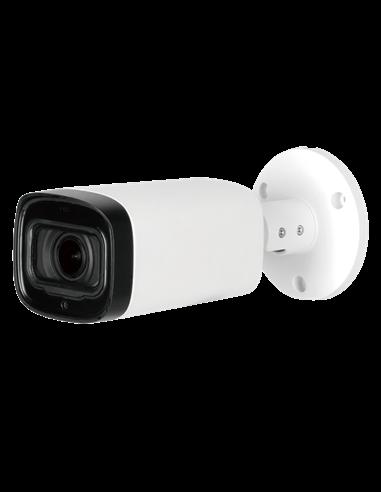 """Cámara bullet HD, 2 Mp, sensor 1/2.7"""", lente motorizada 2.7~12 mm. IR 60 metros.IP67."""