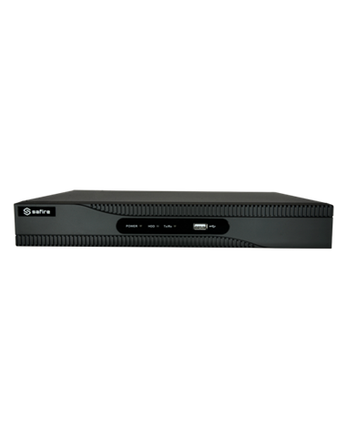 DVR Safire 5n1 - 32 CH + 2 IP, full 720p (25fps) 1080p (15fps), 1 audio, PTZ, HDD no incluido.
