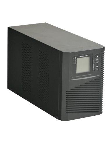 UPS ON LINE 1000 VA / 900 W - Entrada 200-240 VAC - 2 salidas backup con protección SAI - 2 Baterías de plomo-ácido se