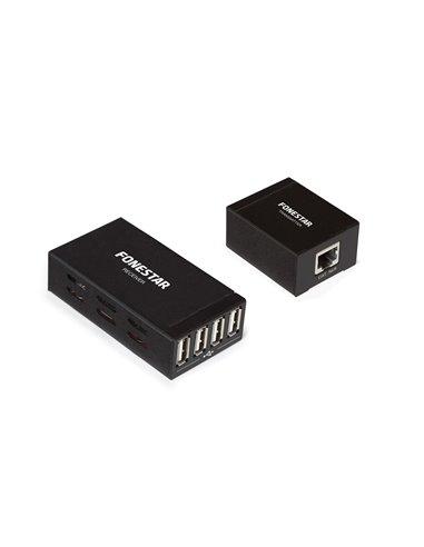 Extensión USB por cable Cat 5e/6. Pareja emisor y receptor.