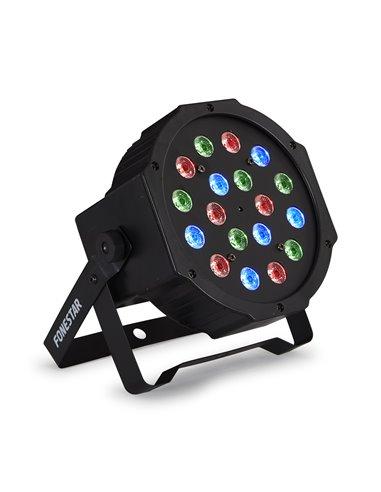 Foco PAR DMX con 18 LED RGB