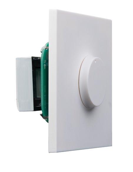Atenuador de 12 W máximo para línea 100 V. Entrada de 2 hilos y sistemas con prioridad de 3 y 4 hilos