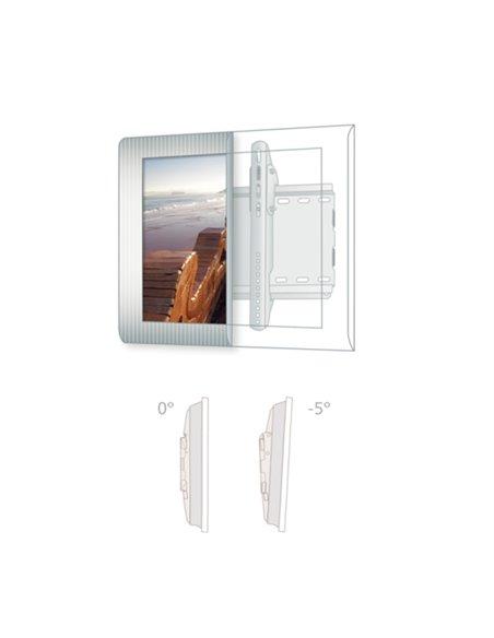 Soporte metalico. TV/monitor plasma y TFT/LCD. Plata