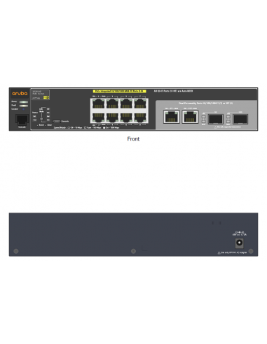 Switch HP 2530-8G-PoE+, 8x10/100/1000 PoE + 2xSFP + gestión, full layer 2