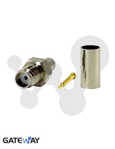 SMA hembra inverso (pin macho) para RG-58