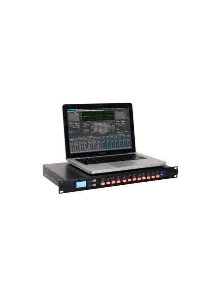 Procesador digital señal de audio, 4 entradas y 8 salidas.