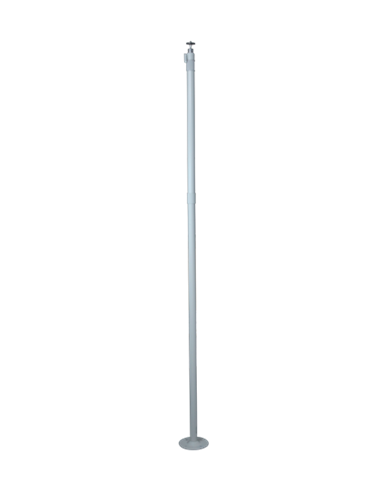Soporte para cámara. Extensible 1050~2000 mm. Rótula rotación 360º. Sección hueca pasacables. Diámetro de la base 112 mm