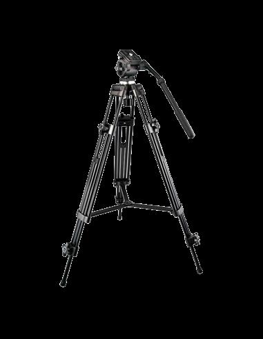 Trípode. Extensible hasta 189 cm. Apto para uso en exterior. Color negro. Compatible con cámaras termográficas y DS-2909ZJ