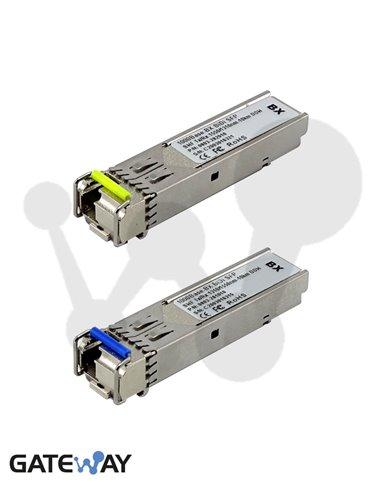 Transceiver SFP BiDi 1000Base-BX, 1310/1550nm. Monomodo 10 Km. DOM (kit 2 unidades)