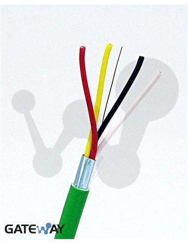 Cable CC-BUS 2x2x0.8 HFLS CPR Eca (múltiplos de 100 m)