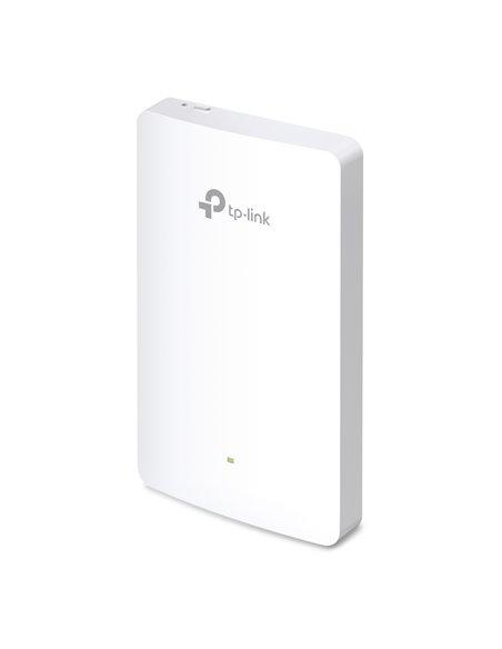 Punto de acceso empotrable en pared. IEEE 802.11n/g/b/ac Dual Band 2.4 y 5 GHz, 2xRJ45 + puerto PoE (Precisa alimentador PoE+)