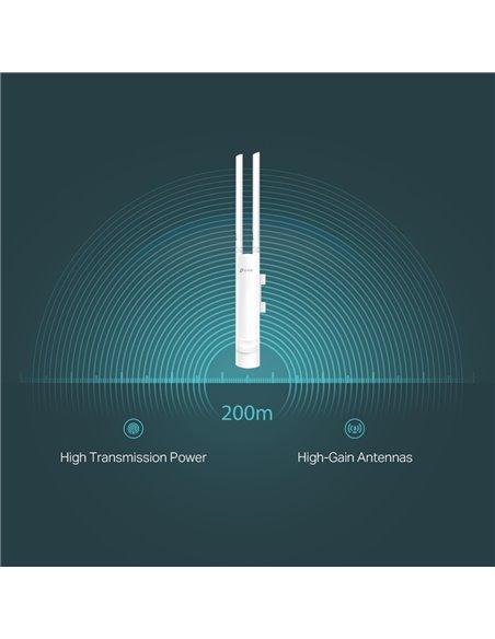 Punto de acceso para exterior. IEEE 802.11n/g/b 300 Mbit/s, IP65 (necesita alimentación PoE)