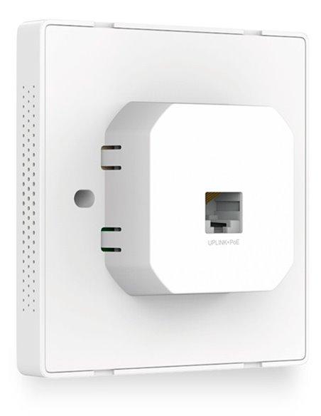 Punto de acceso empotrable en pared.  IEEE 802.11n 300 Mbit/s (necesita alimentación PoE)